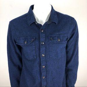 L.L. Bean Vtg Wool Guide Shirt Flannel Blue - Med